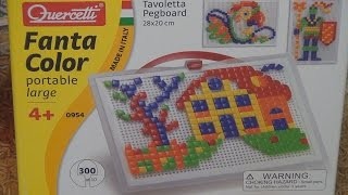 Мозаика набор Геометрия 300 Quercetti 0954 Q распаковка и обзор товара Unboxing Christmas gifts