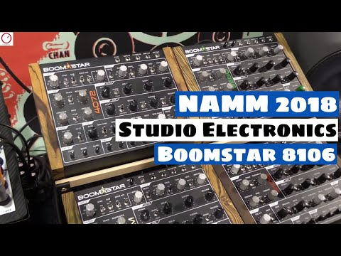 NAMM 2018: Studio Electronics Boomstar 8106 Synthesizer (Jupiter/Juno Filter)