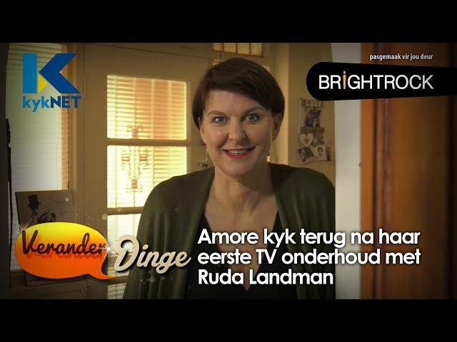Amore kyk terug na haar eerste TV-onderhoud met Ruda Landman