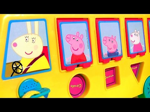 Play Doh Peppa Pig School Bus Pop-up Surprise - Ônibus Escolar Levando Pig George pra Escola