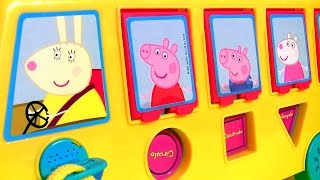 Play Doh Peppa Pig School Bus Pop-up Surprise with Piggy George thumbnail