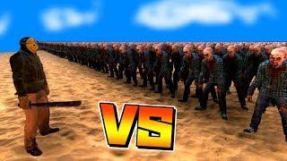 ジェイソン vs 10000体のゾンビで戦闘させてみたらとんでもない結果に…!?【UEBS】