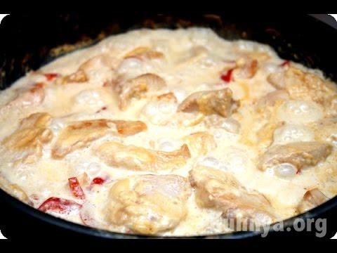 рецепт рецепт приготовления курицы кусочками в сырном соусе