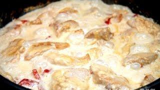 Приготовление курицы кусочками в сливочном соусе