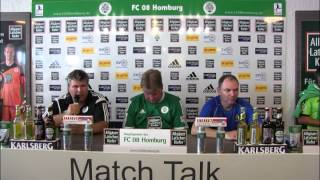 Pressekonferenz FC 08 Homburg - SV Eintracht Trier 05 (Regionalliga Südwest 2014/15)