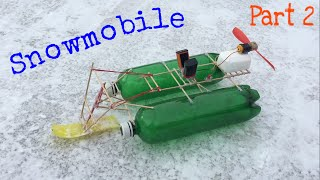 Homemade Snow Boat -Snowmobile