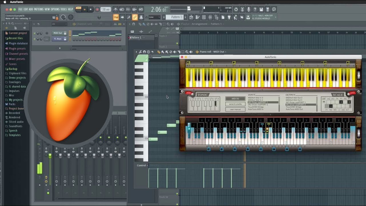 fruity loops midi out