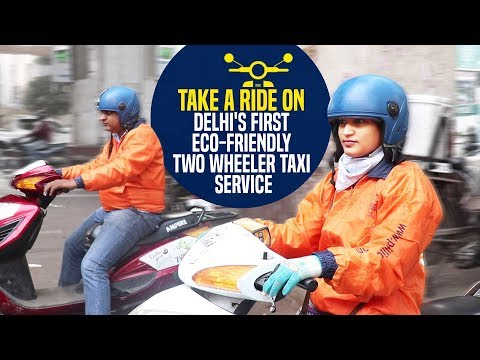 Take a ride on delhi's first eco-friendly two wheeler taxi service