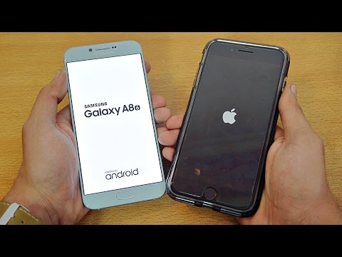 Samsung Galaxy A8 (2016) vs iPhone 7 Plus - Speed Test! (4K)