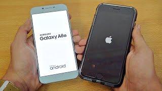 Samsung Galaxy A8 (2016) vs iPhone 7 Plus - Speed Test! (4K)