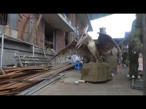 Jurassic park mechanical pterosaurs dinosaur with sound