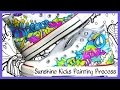 Sunshine Kicks DIY Custom Converse Hi Tops Process Painting