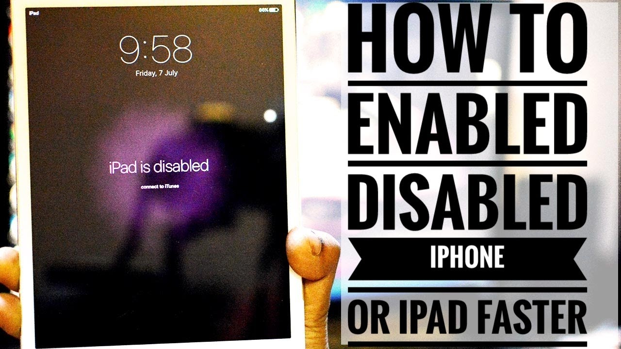 how to fix your ipad when disable