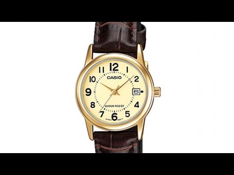 CASIO LTP-V002GL-9BUDF WOMEN'S WATCH  UNBOXING AND REVIEW