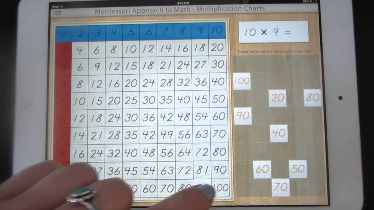 Montessori Approach To Math Multiplication Charts 5 And 10 Youtube