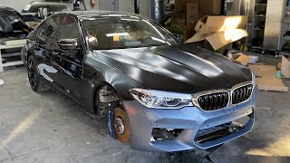 Fixing the FRAME Damage on the BMW M5 F90 - Episode 5