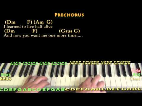 Jar of Hearts (Christina Perri) Piano Cover Lesson in C with Chords/Lyrics