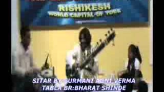 AGNI VERMA SITAR AT YOGA & INDIAN MUSIC FESTIVAL RISHIKESH, INDIA