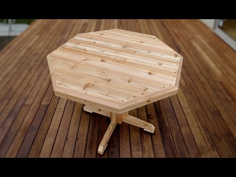 How To Make Wooden Patio Table