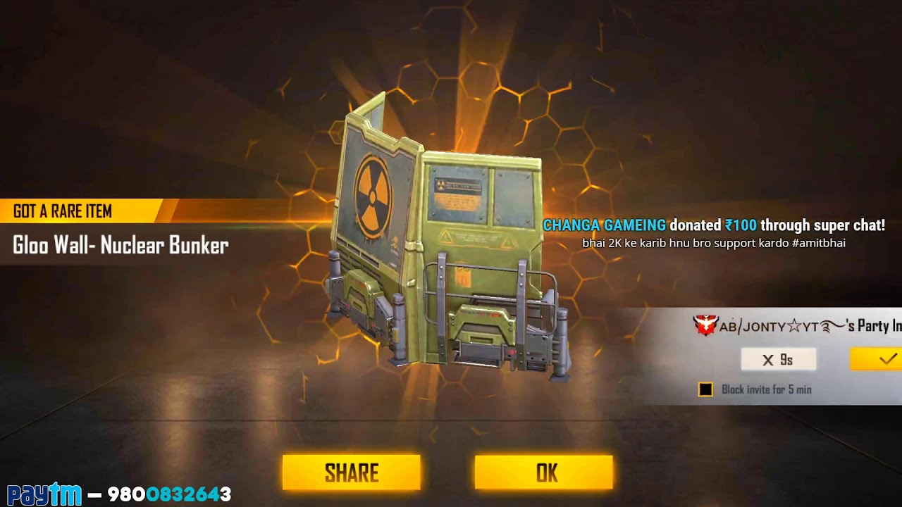 Download New Wall Skin Topup Event || Free Fire