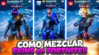HOW TO COMBINE SKINS IN FORTNITE Battle Royale!! | Rubinho vlc