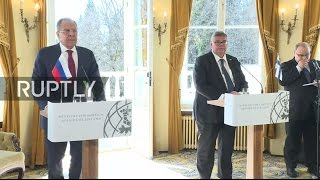 LIVE  Lavrov and Finnish FM Soini hold joint press conference in Porvoo