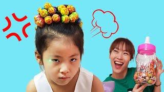 마음에 드는 머리핀이 없어요 서은이의 츄파춥스 사탕 머리핀 왕관 드레스 머리 묶기 Chupa Chups Hairpin with Princess Dress Seoeun Story