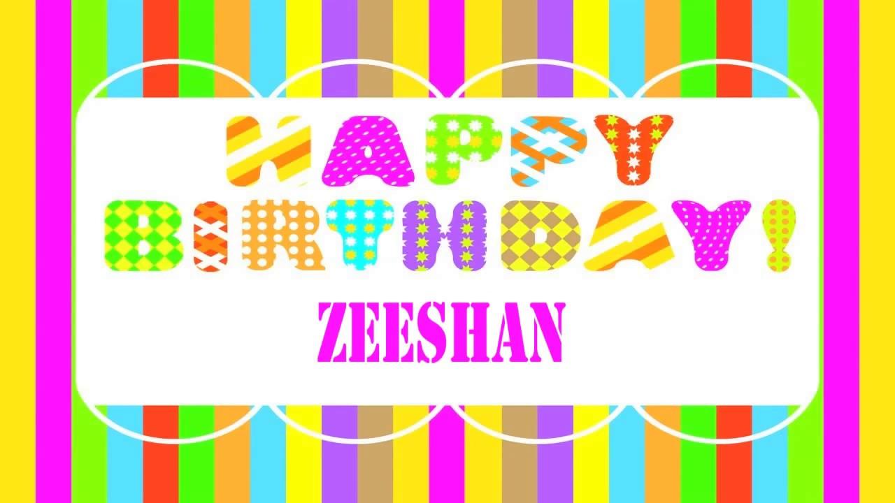 Zeeshan Wishes Mensajes Happy Birthday YouTube
