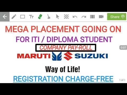 Recruitment notification for iti/diploma student in maruti suzuki