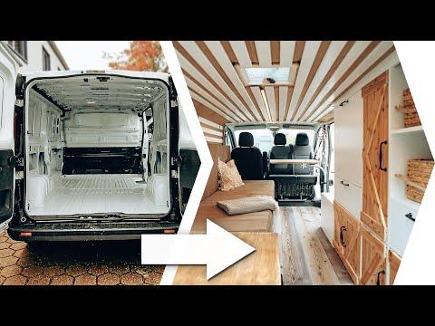 CAMPER CONVERSION in 12min ??️| (ENG SUBS) | 35 Days Build Time lapse  | Opel Vivaro/Traffic Van