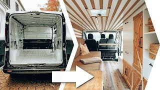 CAMPER CONVERSION in 12min 🚐🛠️| (ENG SUBS) | 35 Days Build Time lapse  | Opel Vivaro/Traffic Van
