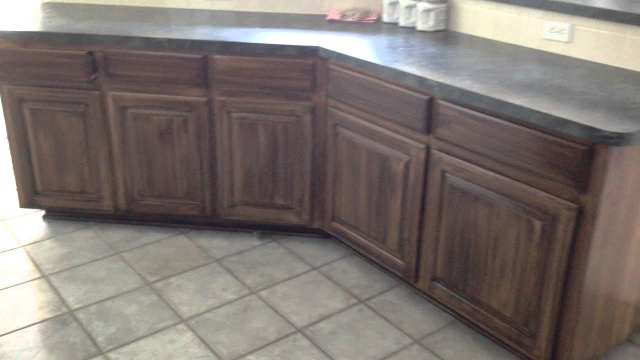 Stain Over Old Kitchen Cabinets