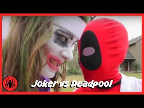 Little Heroes Joker vs Kid Deadpool Superheros Fun Fight in Real Life Comic Battle   SuperHero Kids