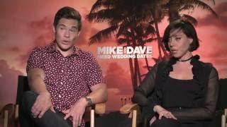 Aubrey Plaza & Adam Devine Mike and Dave Need Wedding Dates Interview