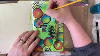 Creativity Art Journal Page using scribble sticks