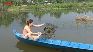 Về Miệt Thứ Kiên Giang Xem Em Gái bắt Cua Biển/Catch sea crabs