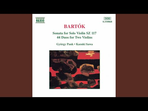 béla bartók 44 duos for 2 violins bb 104 vol 2 katonanota soldiers song