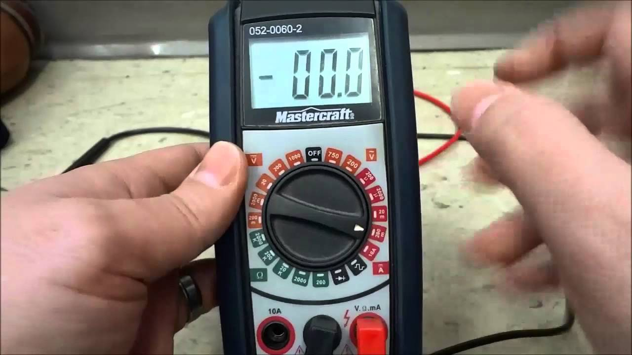 Mastercraft Multimeter Review Model Number 052 0060 2 Youtube