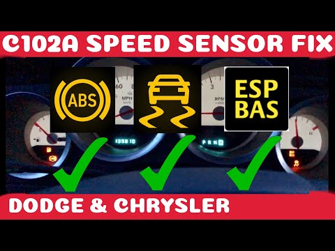 How To Fix Dodge / Chrysler ABS , Traction and ESP BAS Fix Wheel Speed Sensor DIY