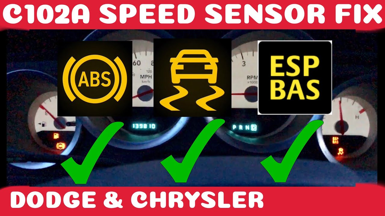 how to fix dodge chrysler abs traction and esp bas fix wheel speed sensor diy [ 1280 x 720 Pixel ]
