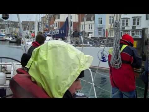 """Tall Ships Challenger  Sailing documentary """" Living on a boat """" English Channel 2011"""