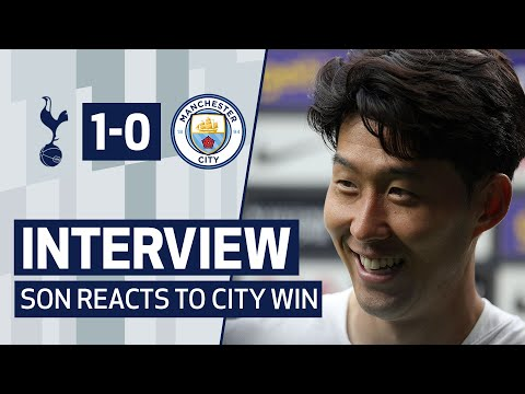 Heung-Min Son reacts to the HUGE goal and wins against Man City!