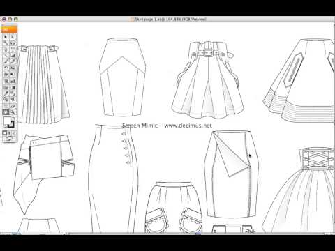 Fashion Templates Skirt