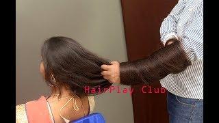 Long Hair Play with English Teacher