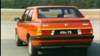 ALFA 75 tested by Riccardo Patrese & Eddie Cheever in Balocco Test Track
