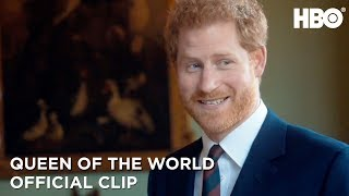 Prince Harry Greets Commonwealth Scholars | Queen of the World | HBO