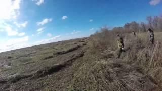 Охота на зайца самотопом с собакой