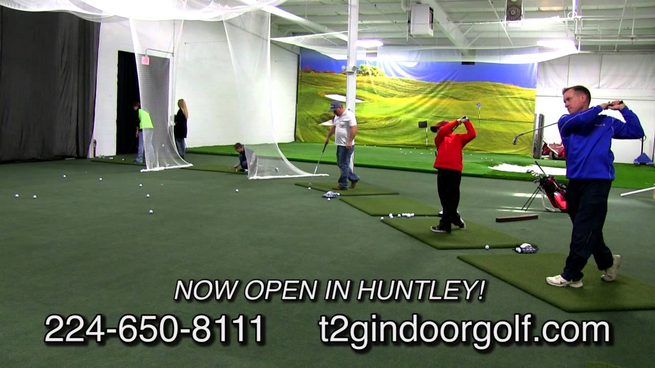 Tee 2 Green Indoor Golf & Gallery Sports Lounge - YouTube