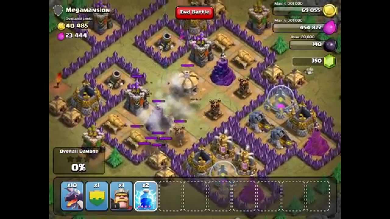 Clash Of Clans Megamansion Single Player 100 Damage