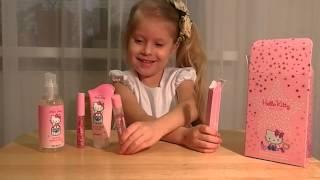 ☆彡Распаковываем косметический набор Хелло Китти  unpack cosmetics set Hello Kitty(Настенька сегодня распаковывает парфюмерно-косметический набор Hello Kitty от AVON Этот ролик обработан в Видеор..., 2016-03-13T18:13:48.000Z)
